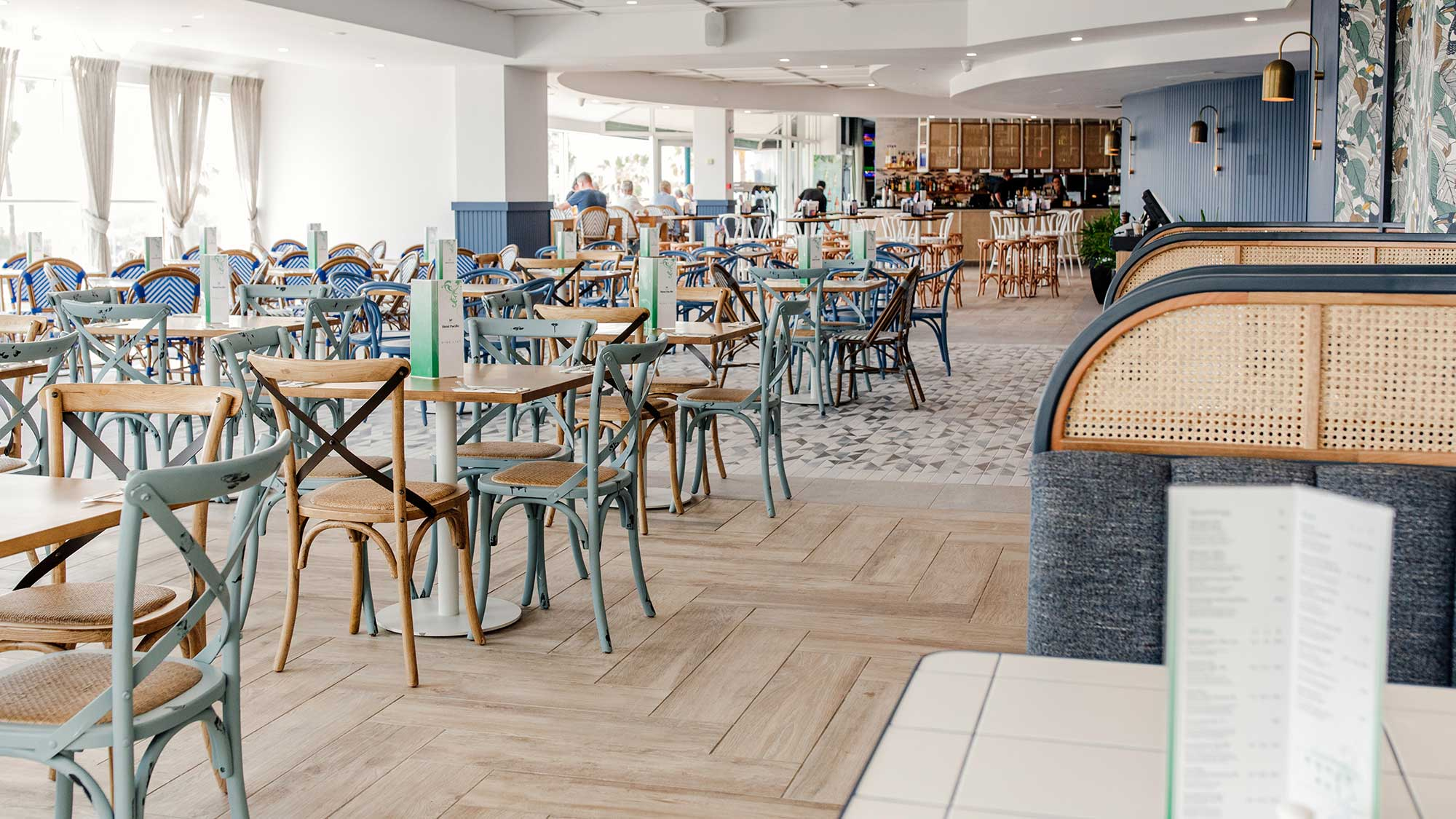 Monique Chairs & Custom Tiled Tables | Hotel Pacific, Southport QLD