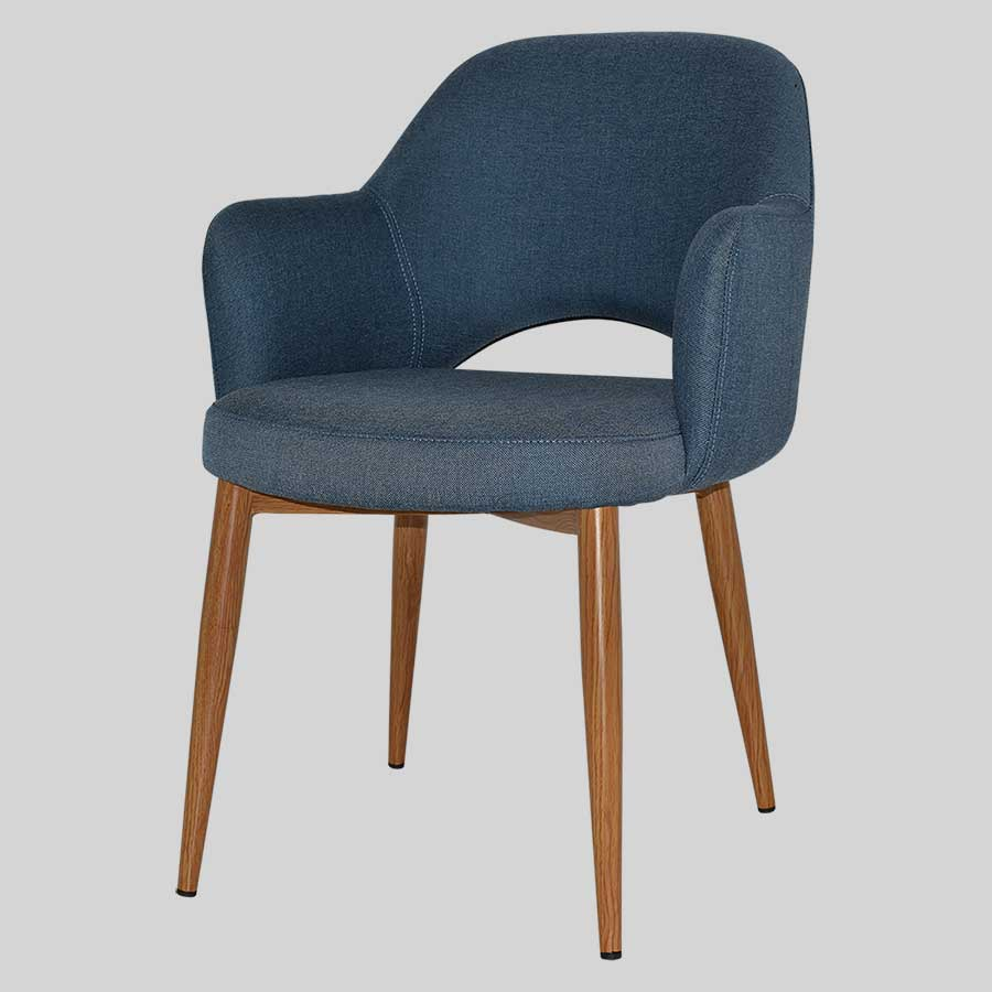 Mulberry Armchair with metal leg