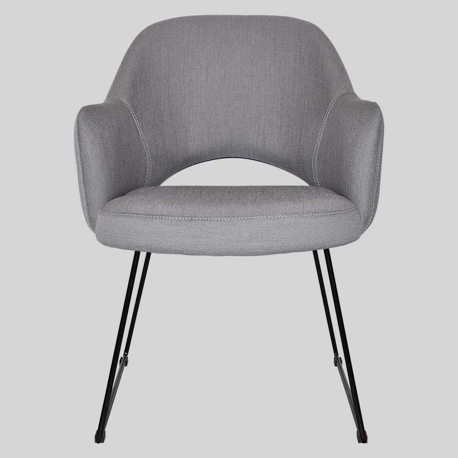 Mulberry Armchair with Sled Leg