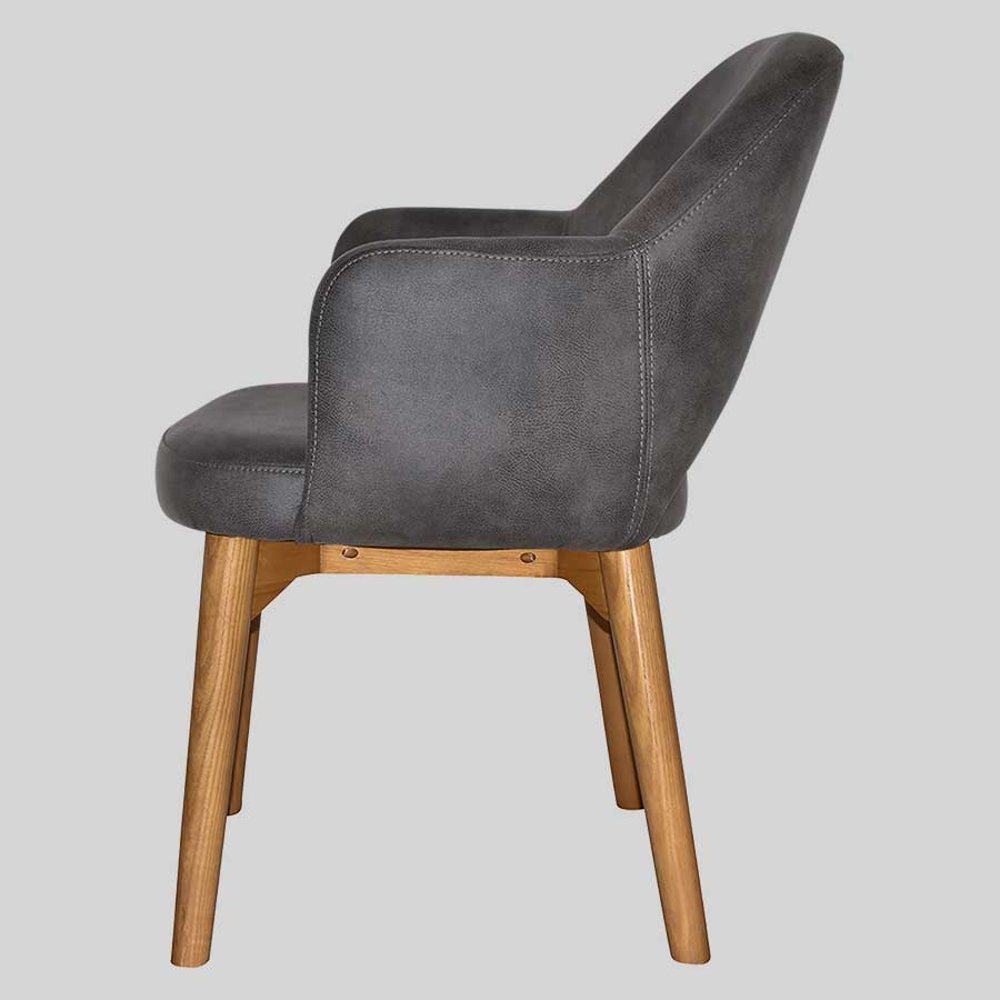Mulberry Armchair with Timber Leg