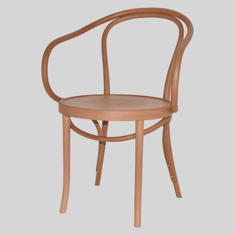 No 9 Bentwood Armchair by Fameg - Natural Frame