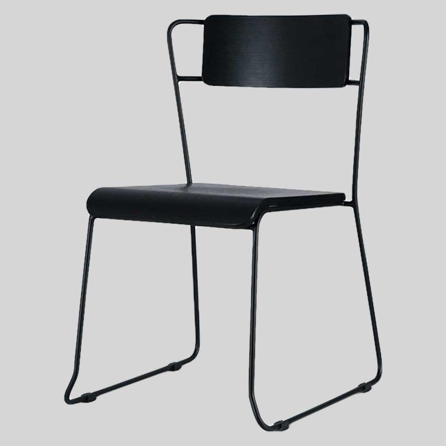 Stackable Indoor Chair - Piper - Black