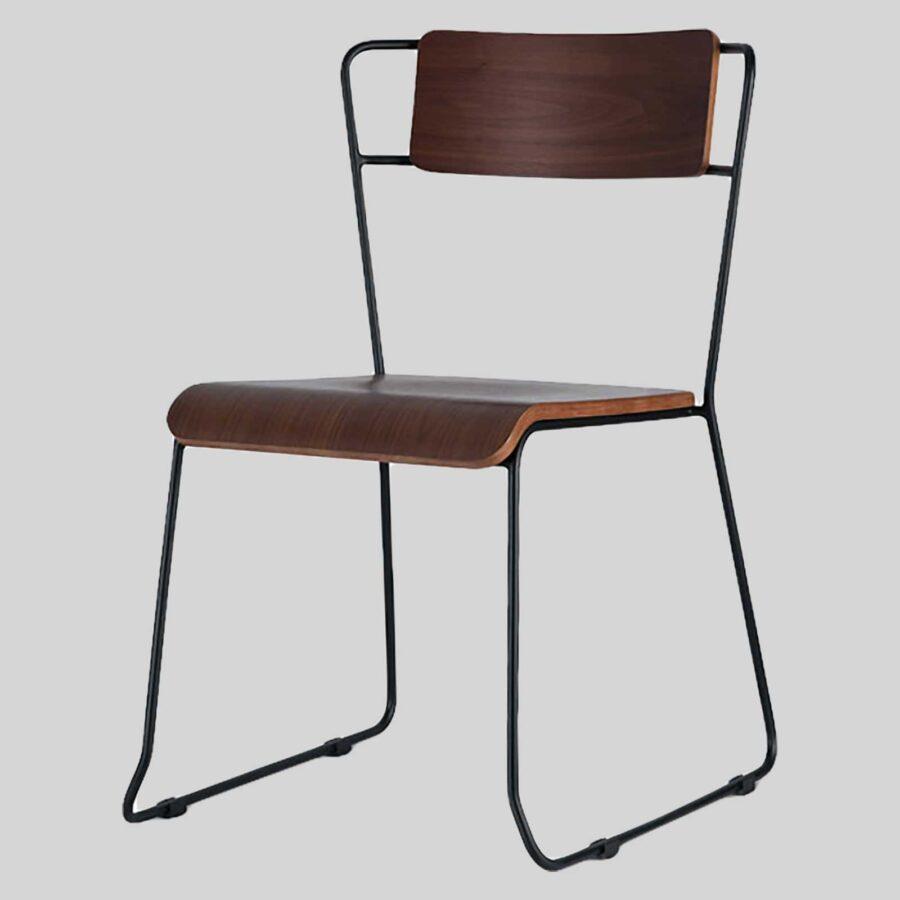 Stackable Indoor Chair - Piper - Walnut
