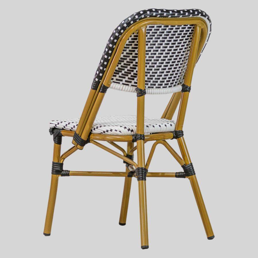 Calais Parisian Cafe Chairs - Black & White
