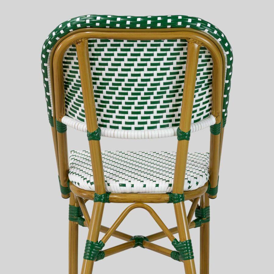 Calais Parisian Cafe Chairs - Green & White