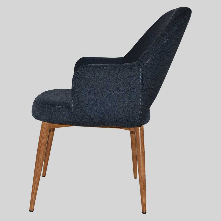 XL Mulberry Lounge Chair with metal legs