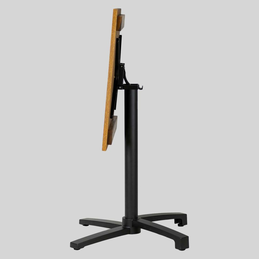 Filip Flip-Top Folding Table Base - Black with Spotted Gum Top